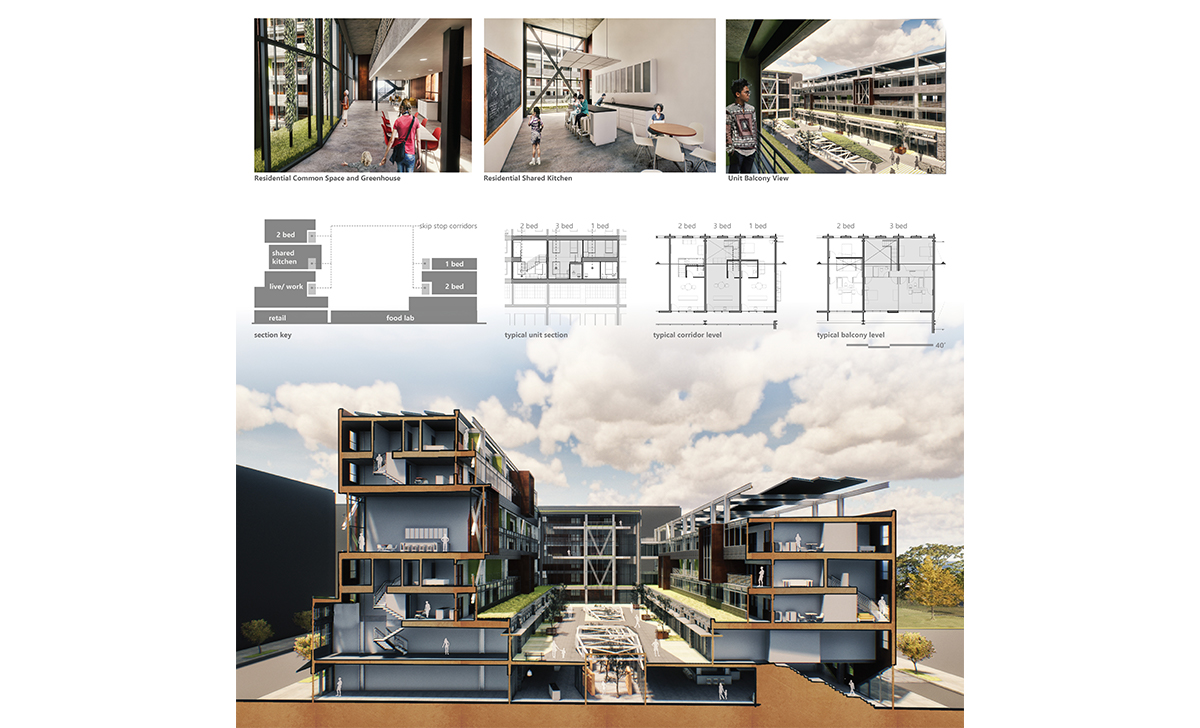Honorable Mention Affordable Housing The Void Association Of Collegiate Schools Of Architecture